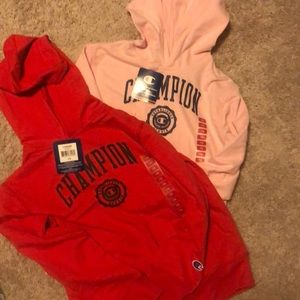 Champion hoodie size 7/8 a set of two NWT